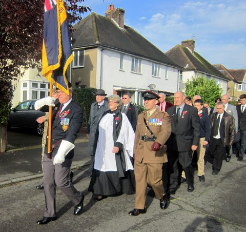 STOUHTON & WESTBOROUGH BRANCH OF THE ROYAL BRITISH LEGION OUTSIDE ST FRANCIS CHURCH