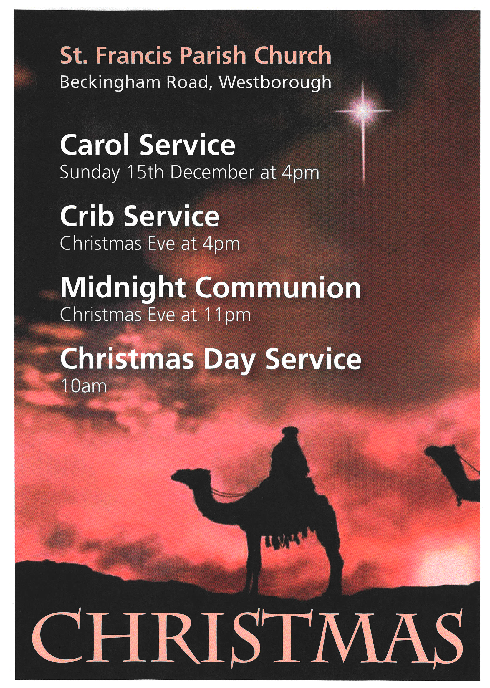 ST Francis Christmas  services