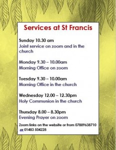 Service times for ST Francis